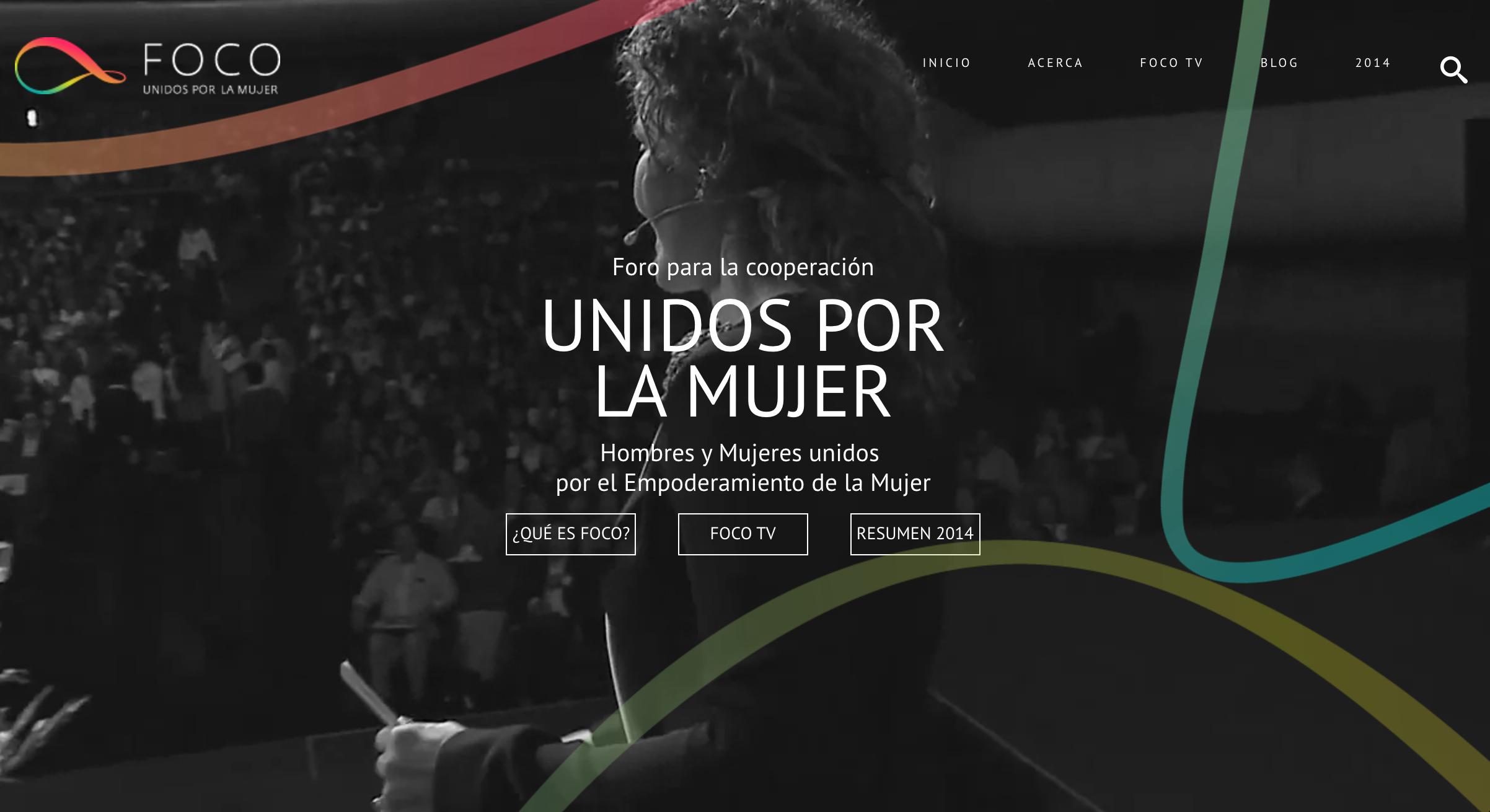foco event conference website design
