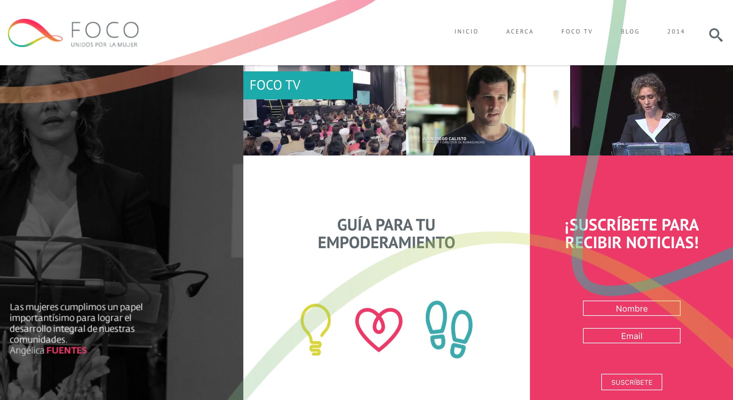 event website design angelica fuentes