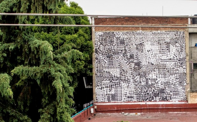 Visualization of mural art on side of building