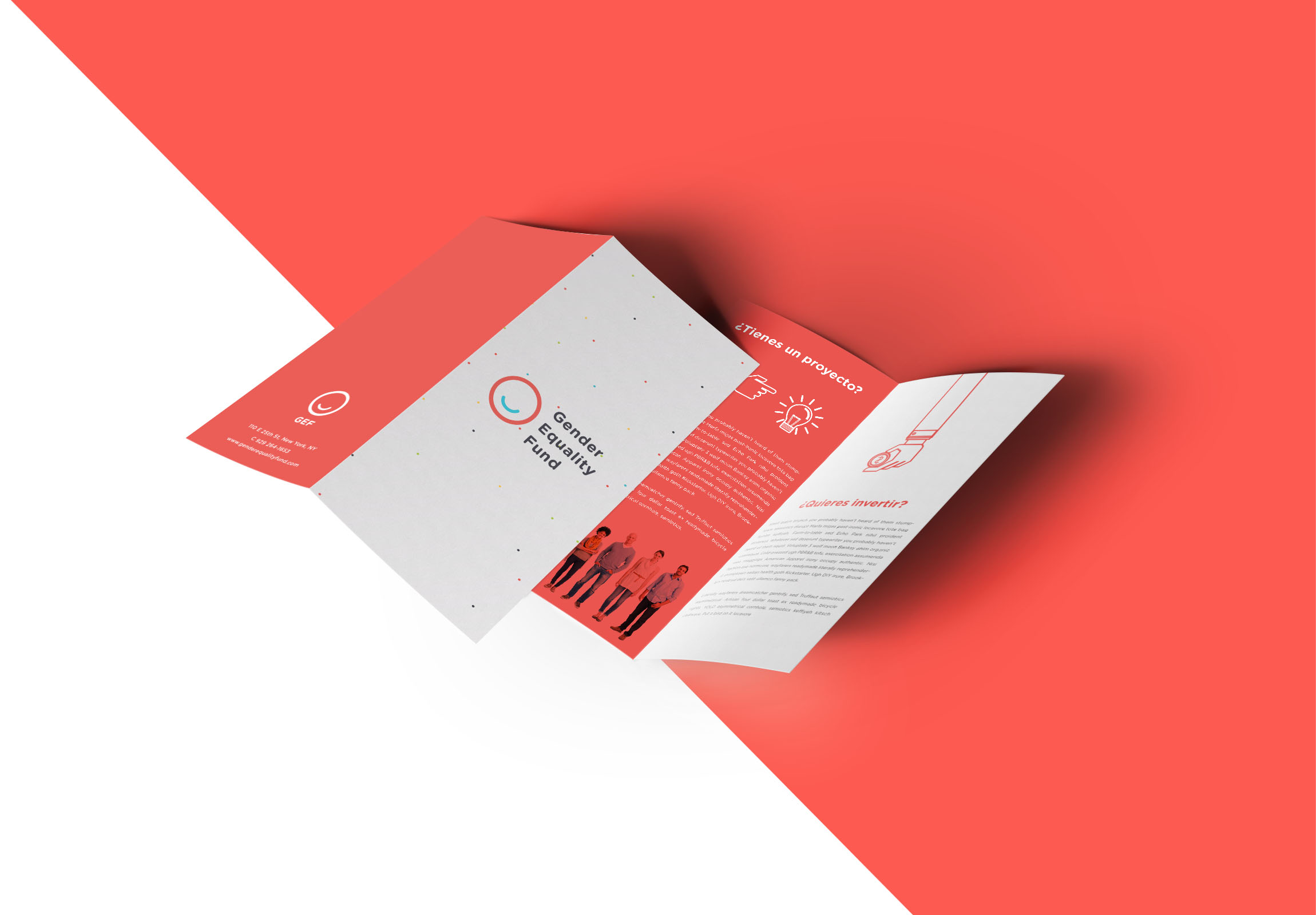 Graphic design brochure for crowd-investing plataform in Mexico