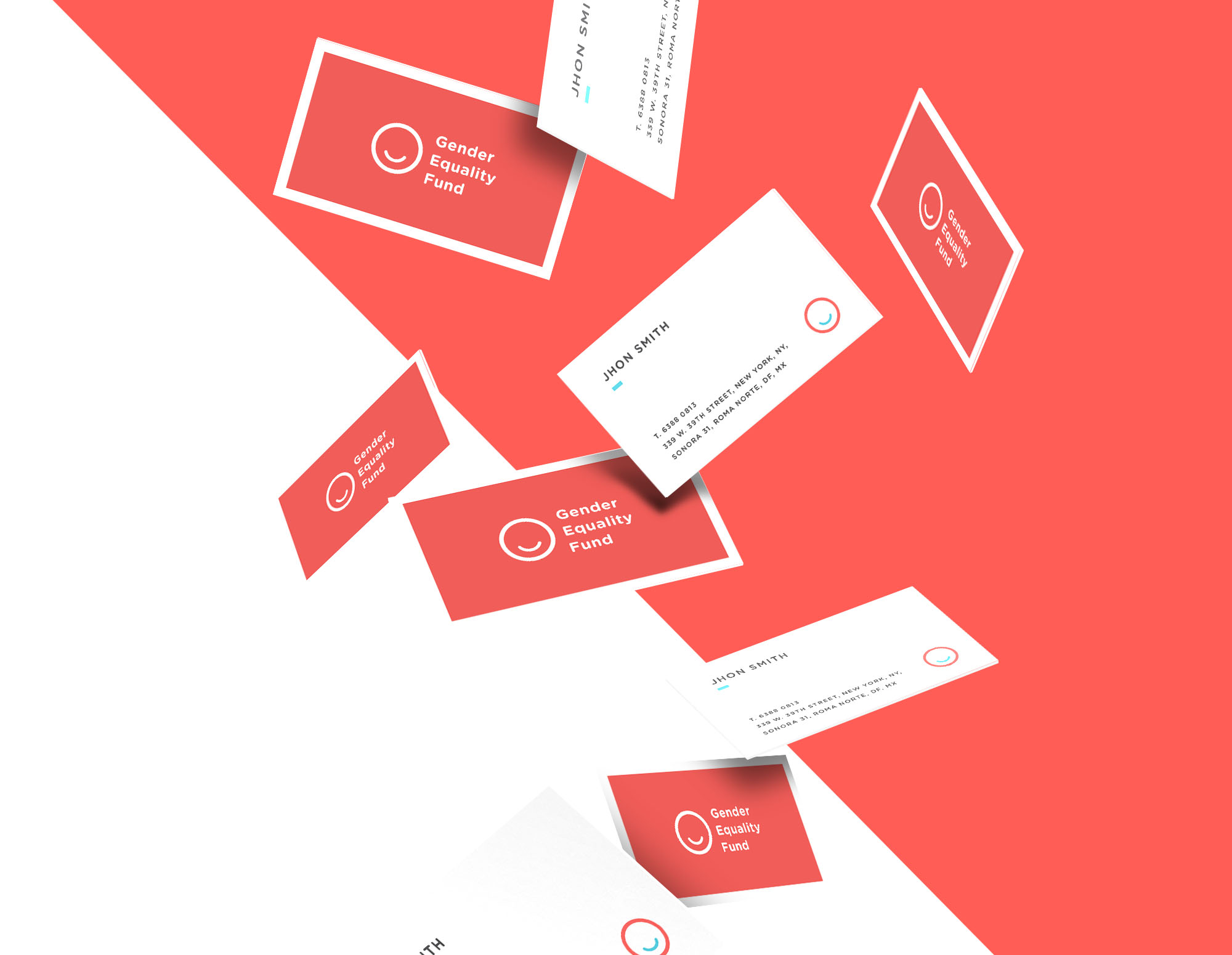 Graphic design for Gender Equality Fund business cards