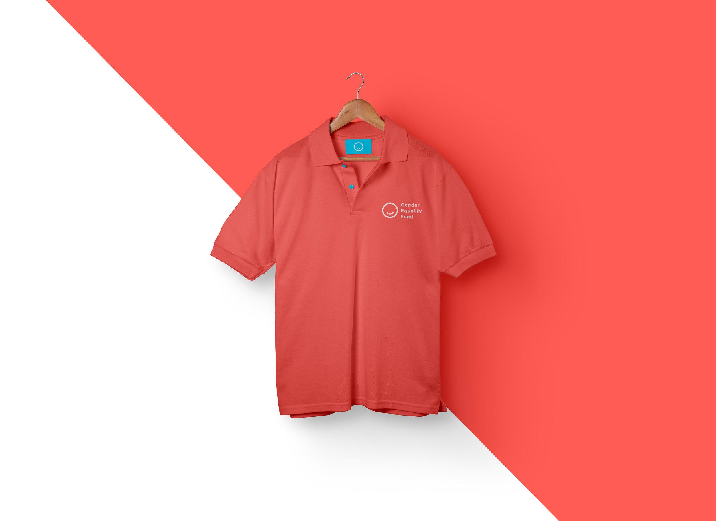 red shirt design diagonal