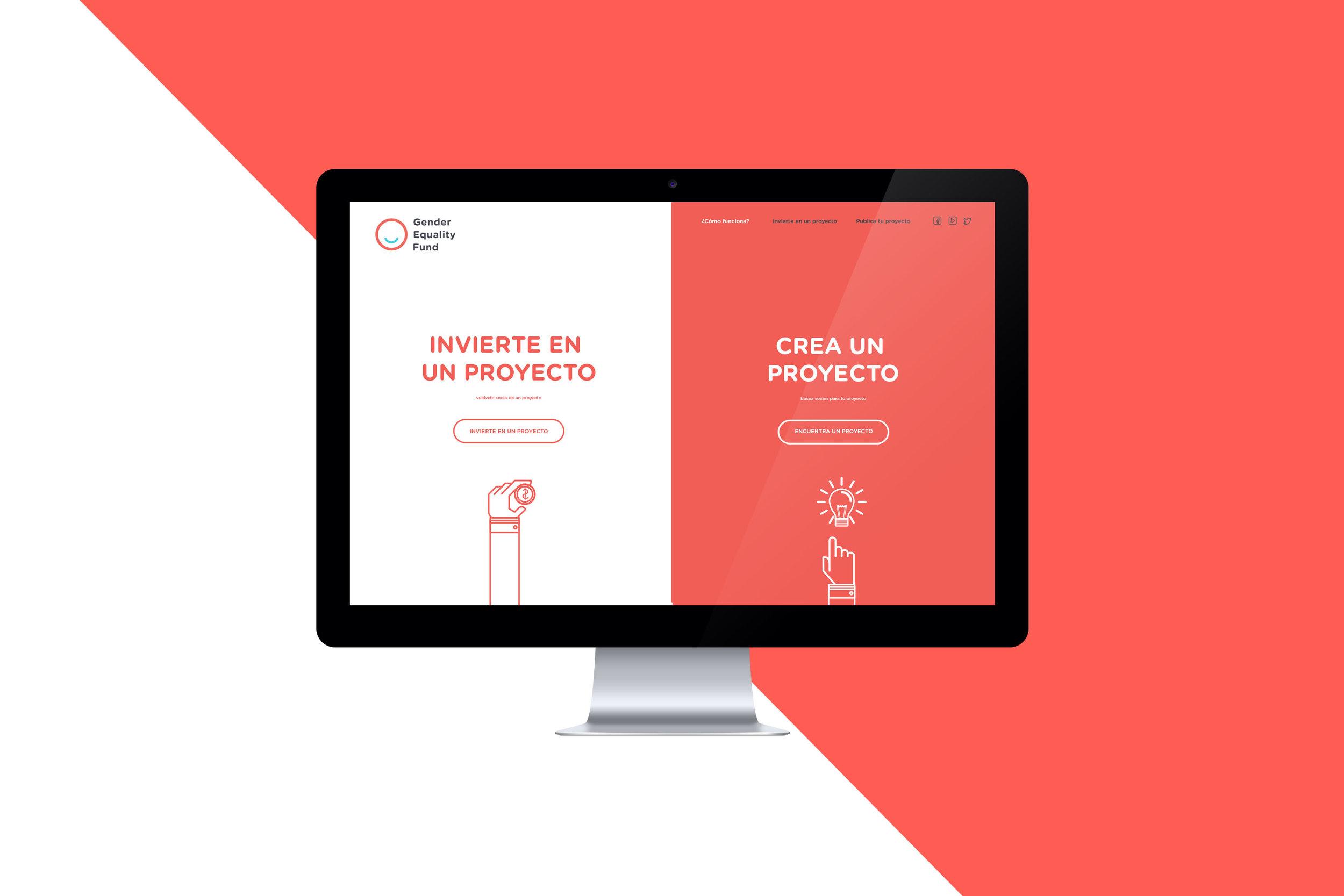 Website design for Gender Equality Fund