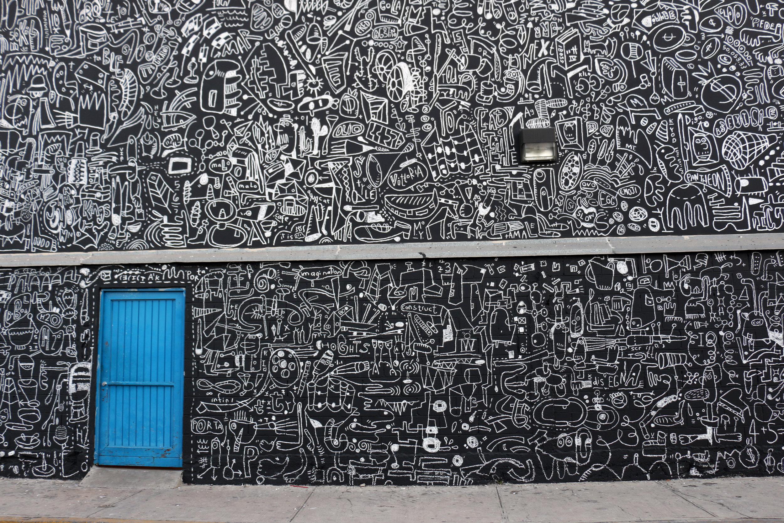 Katie Merz finished art wall