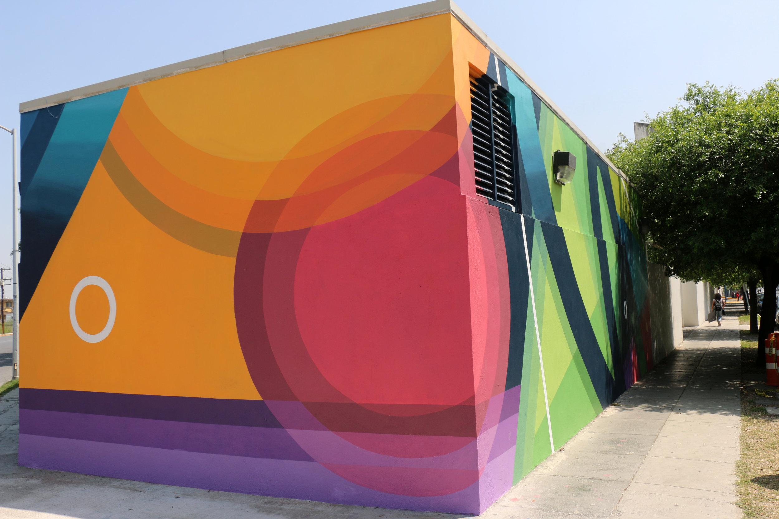 Street art wall in Monterrey