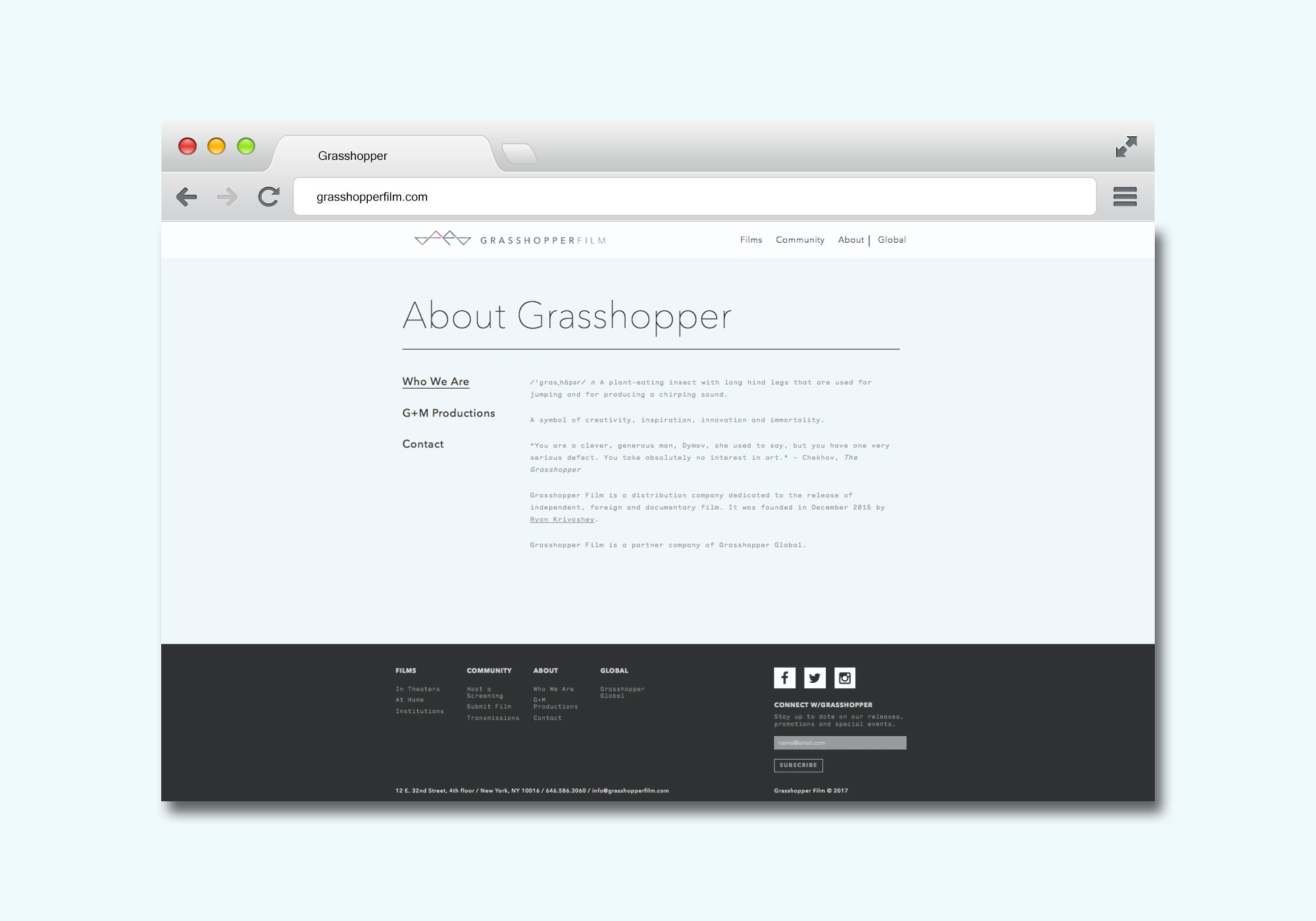 About page website design