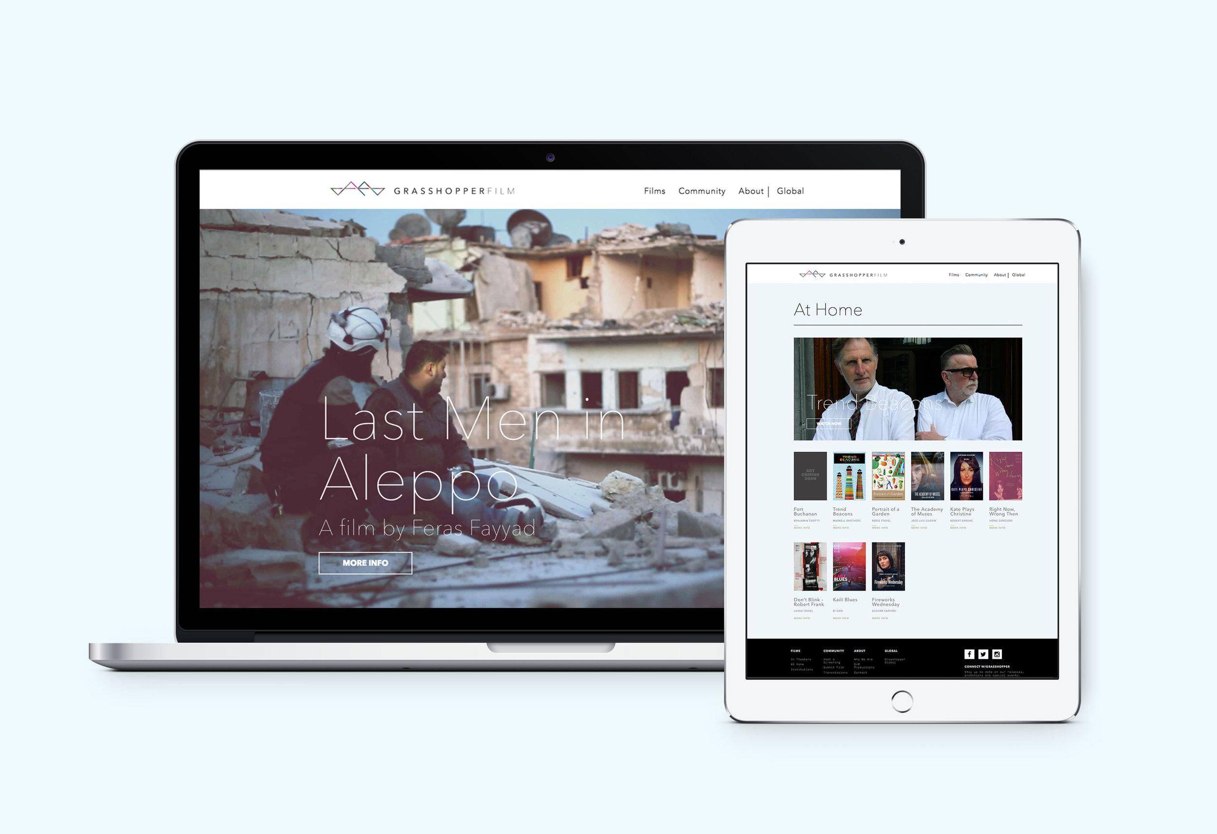 Website design for filmaker