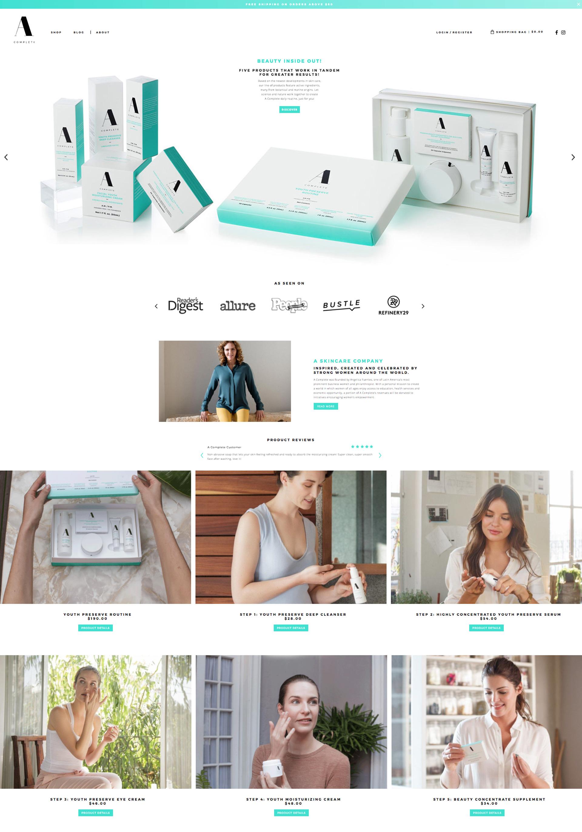 A Complete website look