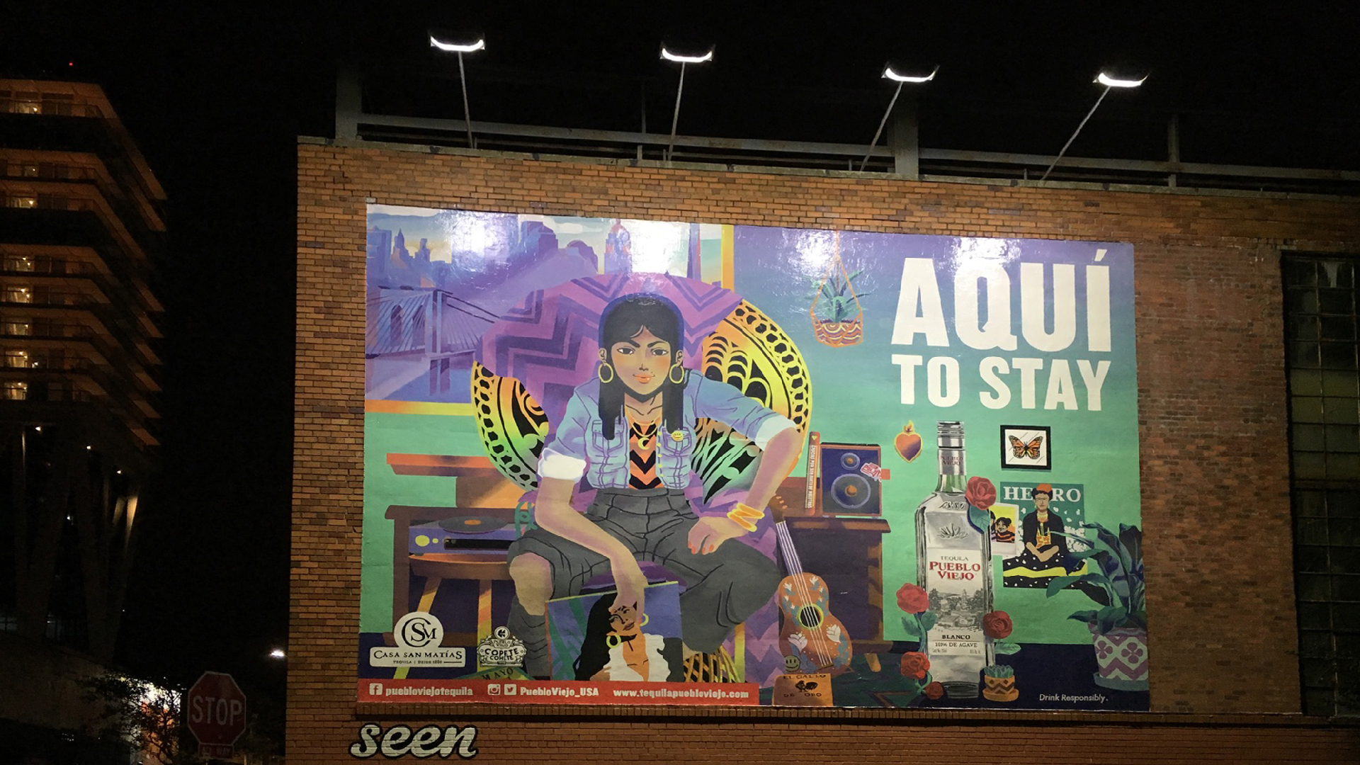 Billboard advertising campaign tequila brand