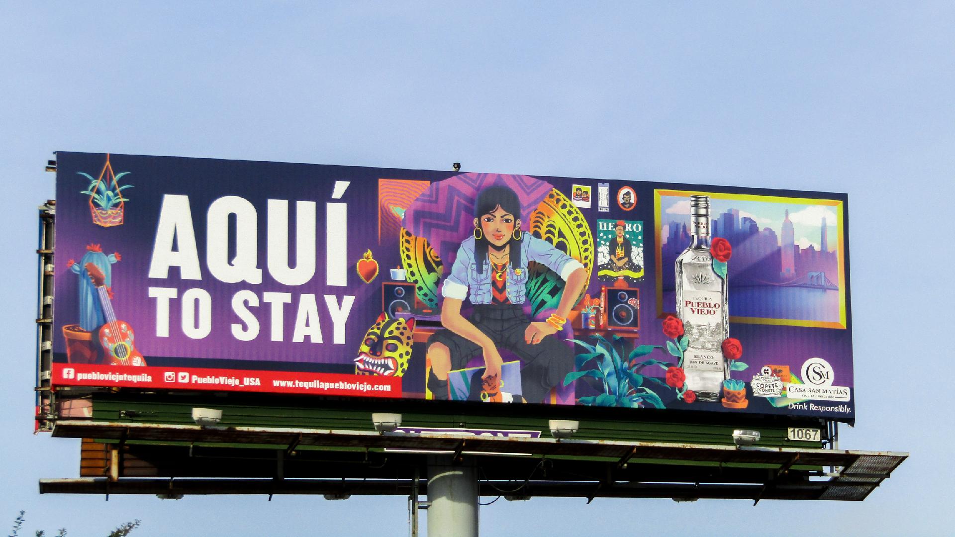 Hand painted art billboard