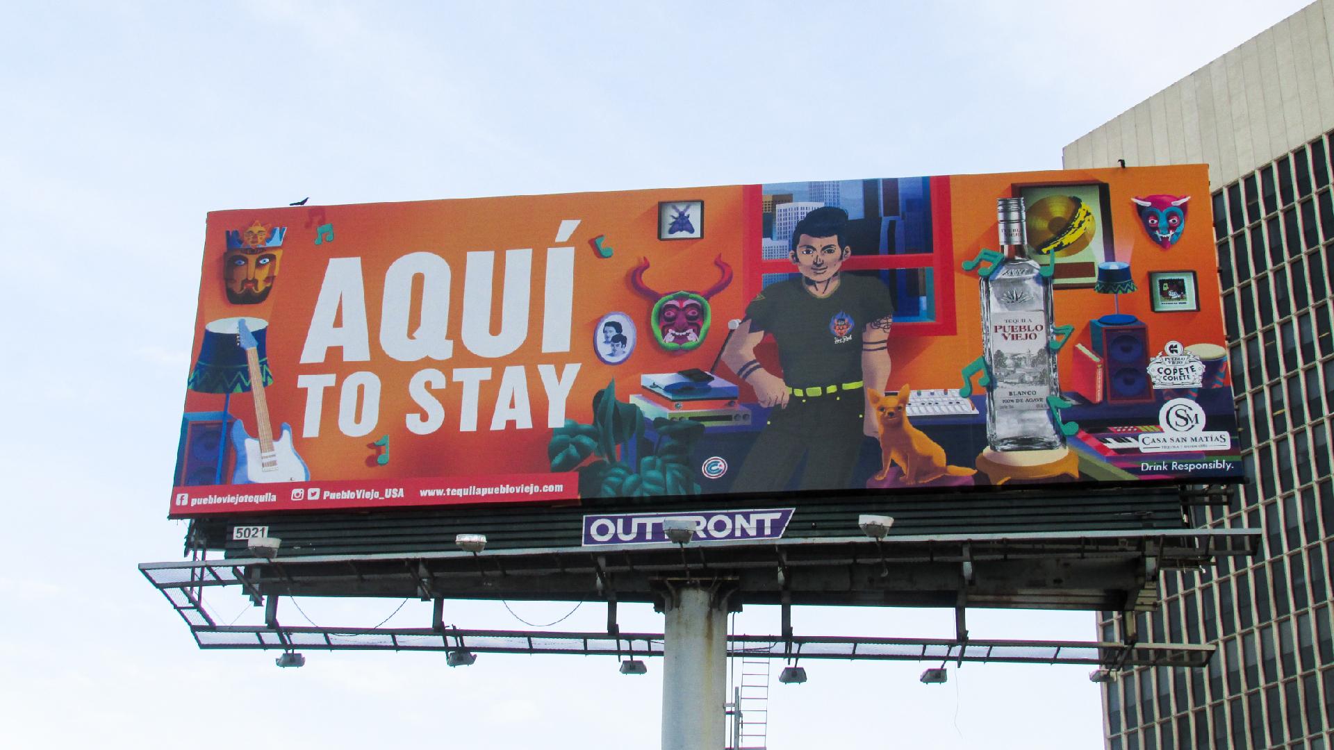 Art billboard Copete Cohete