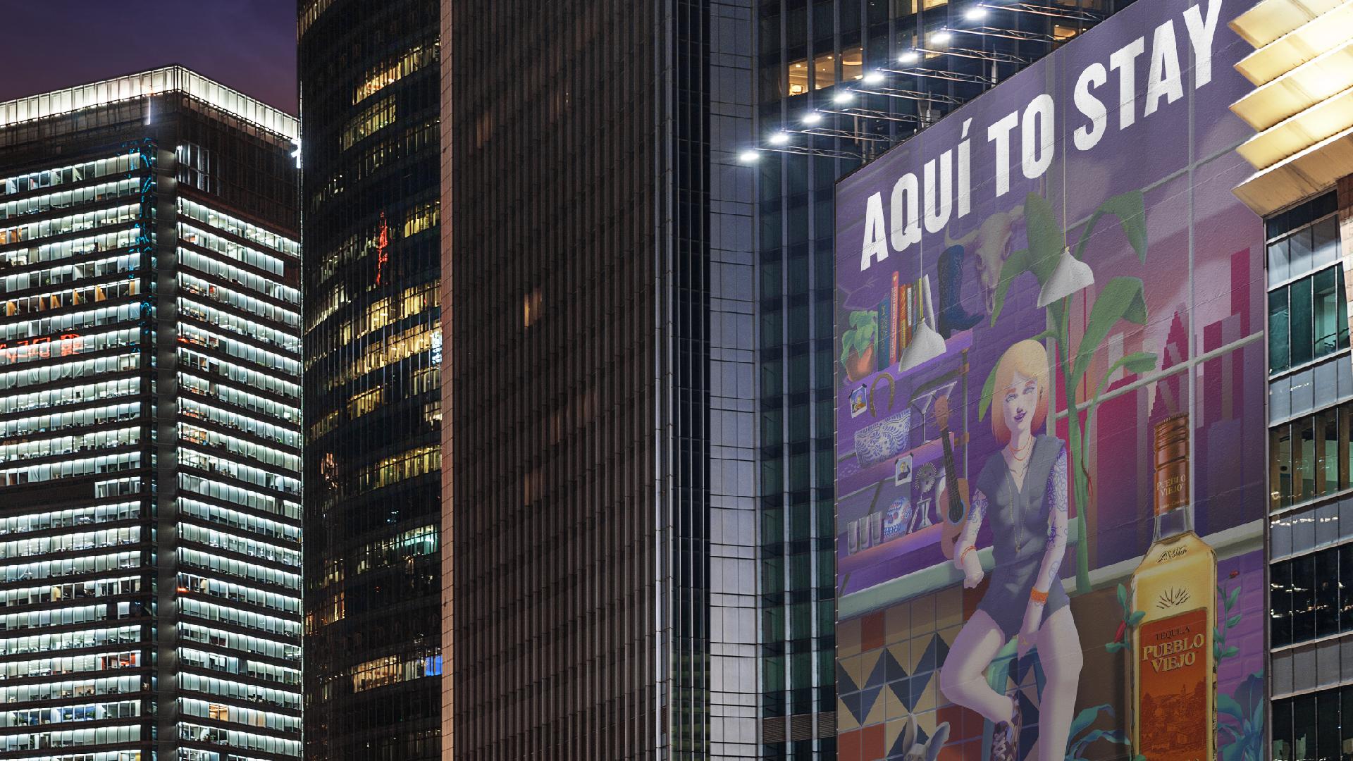 Visualization art billboard copete cohete