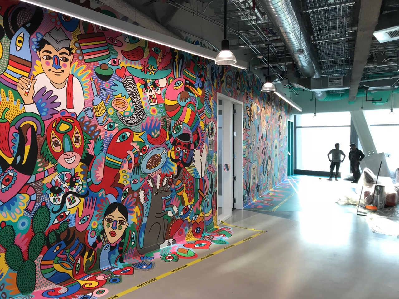 Cocolvu mural at facebook office mexico