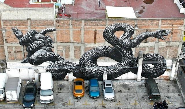 ROA mexico city mural