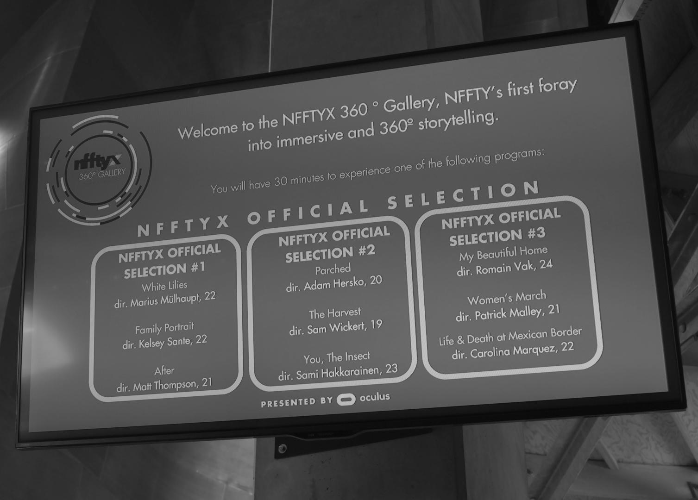 NFFTYX 360º SHORTS GALLERY @ MOPOP