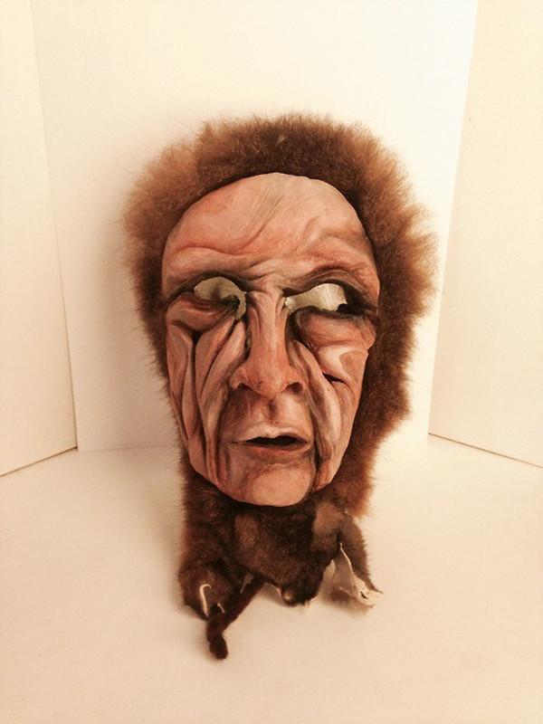 Dancer, 2013. Clay, hide, acrylic  Sold