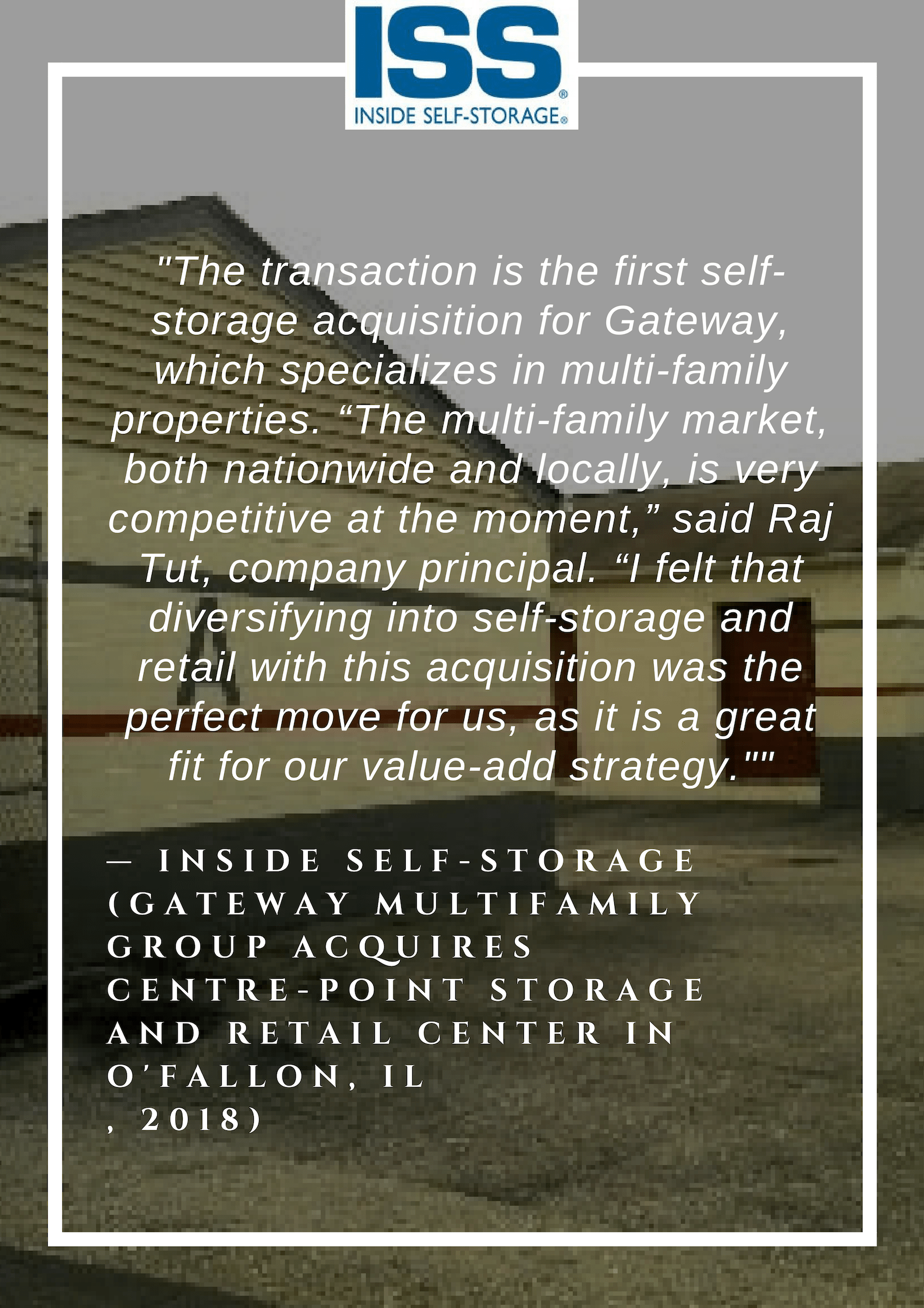 Gateway Multifamily Group Acquires Centre-Point Storage and Retail Center in O'Fallon, IL