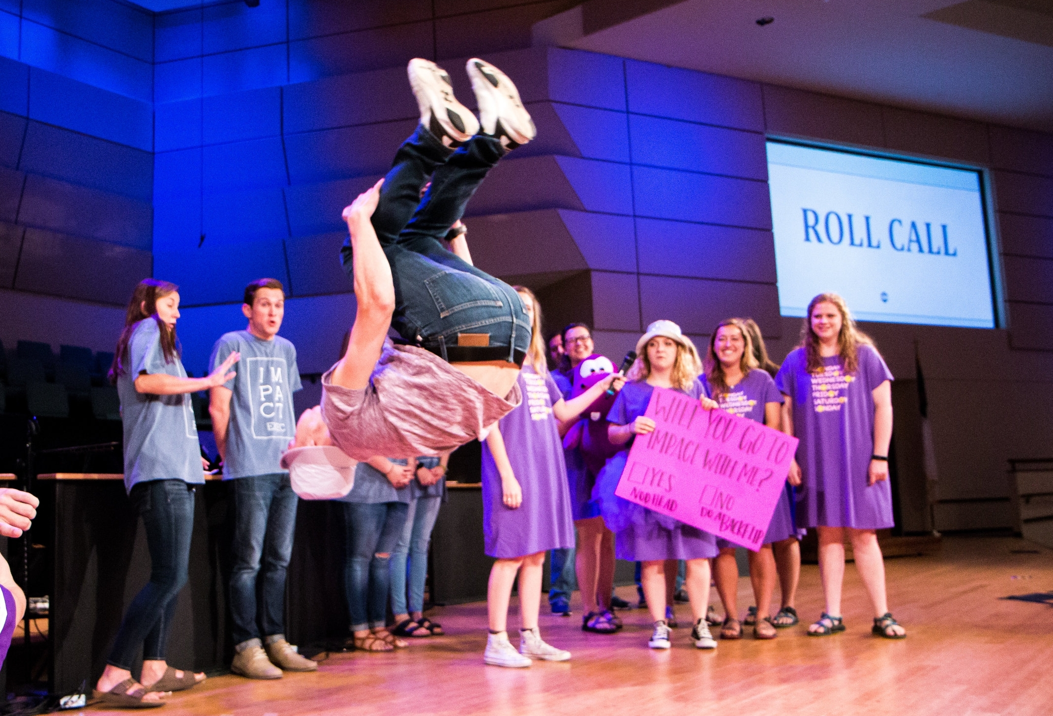 What's your most memorable roll call?  This year at Second Staff Retreat we had a few counselors literally flipping out over roll calls and it definitely caught some of our exec members by surprise!