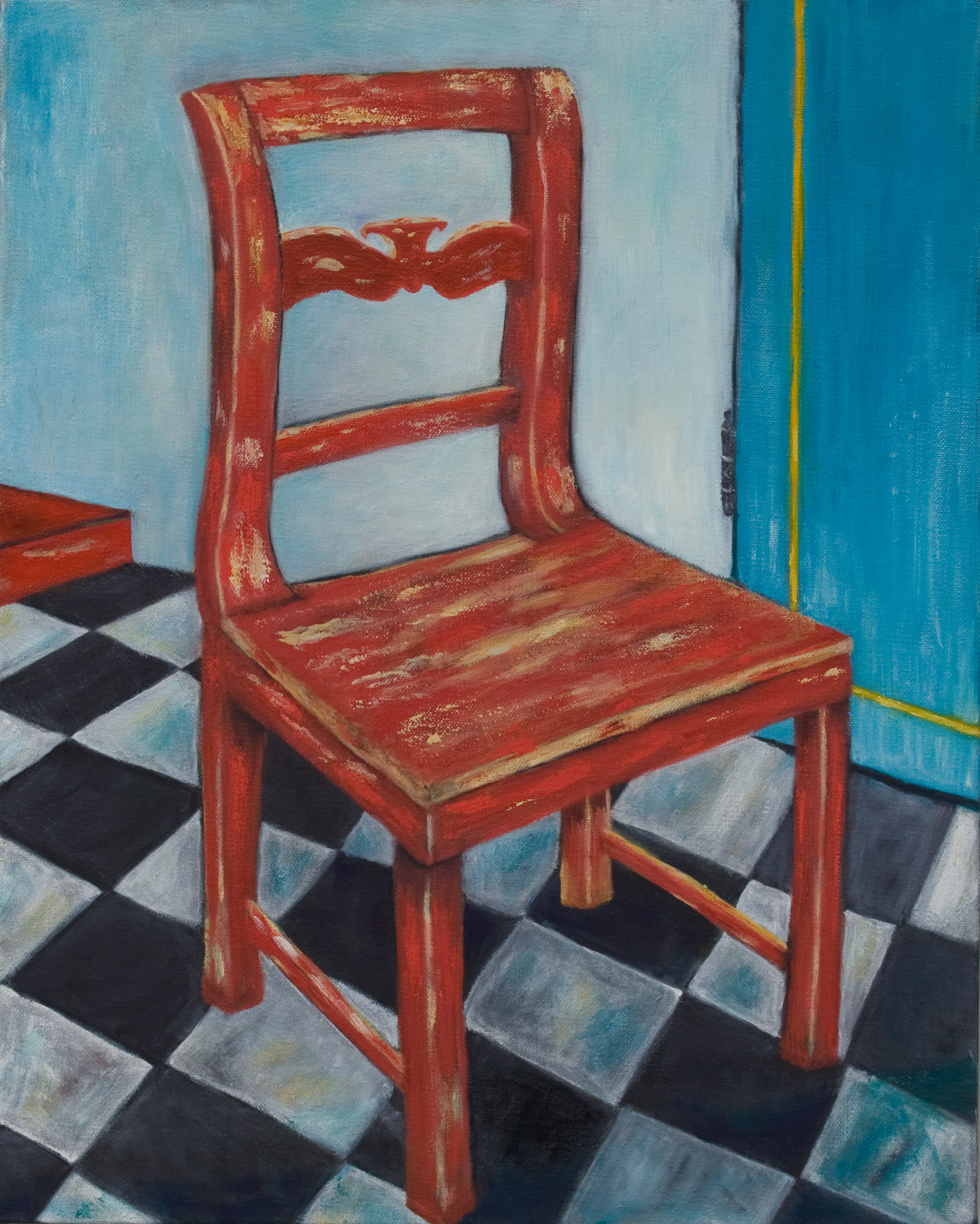 "Swedish Chair, after Van Gough, Oil on Canvas 24""x20"""