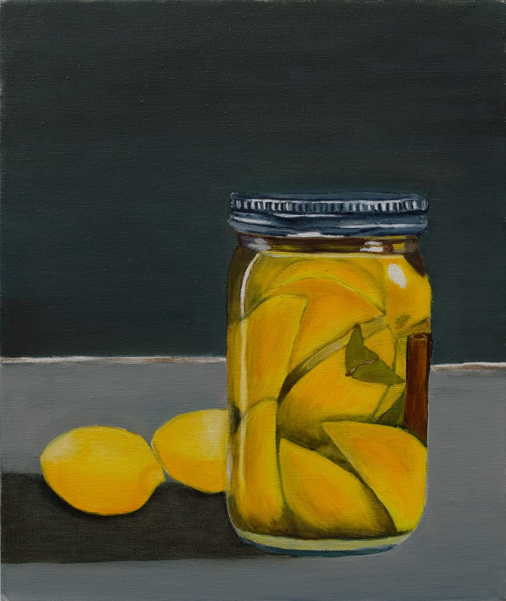 "Preserved Lemons, Oil on Canvas, 12""x10"""