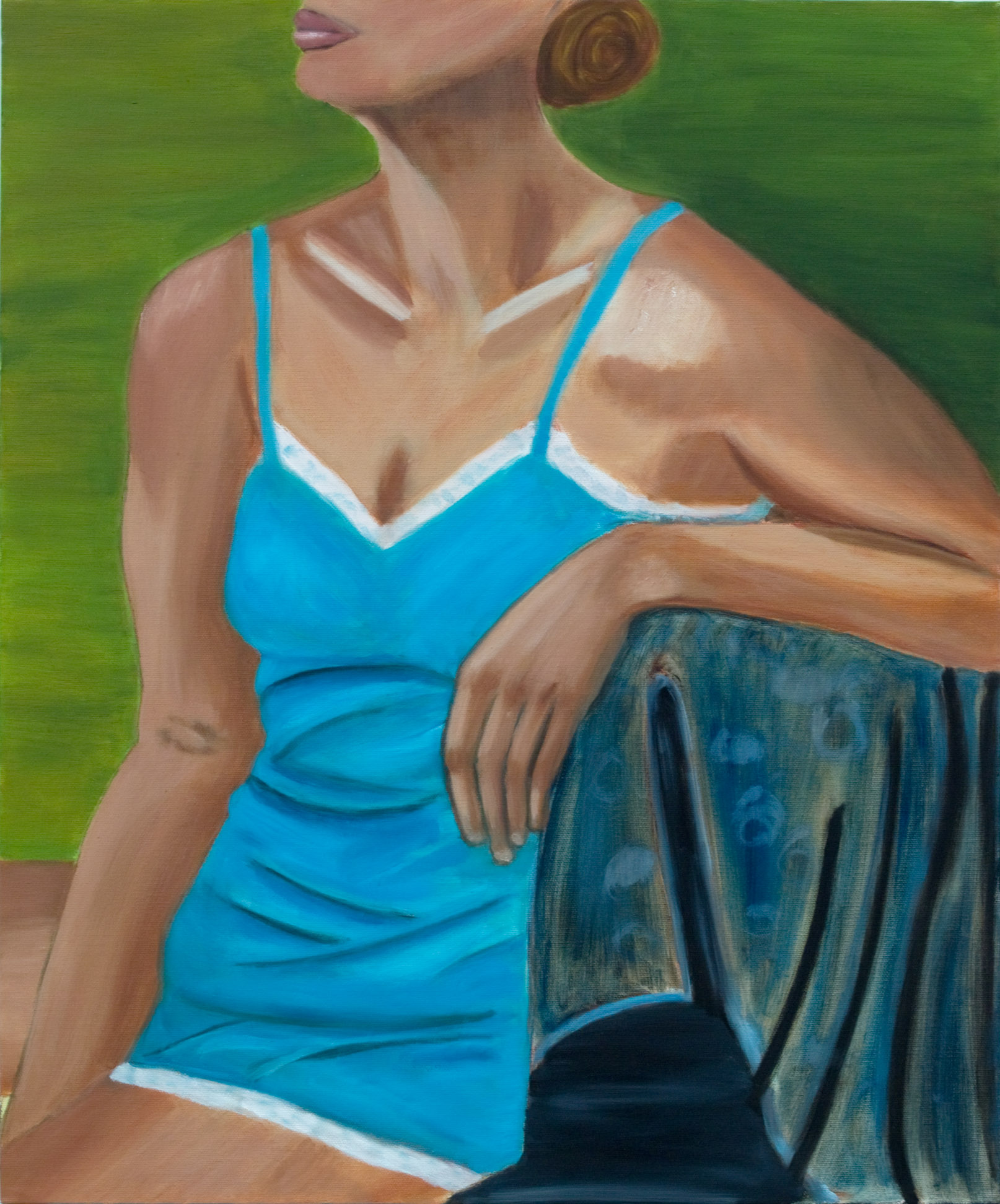 "Figure, Oil on Canvas, 24""x20"""