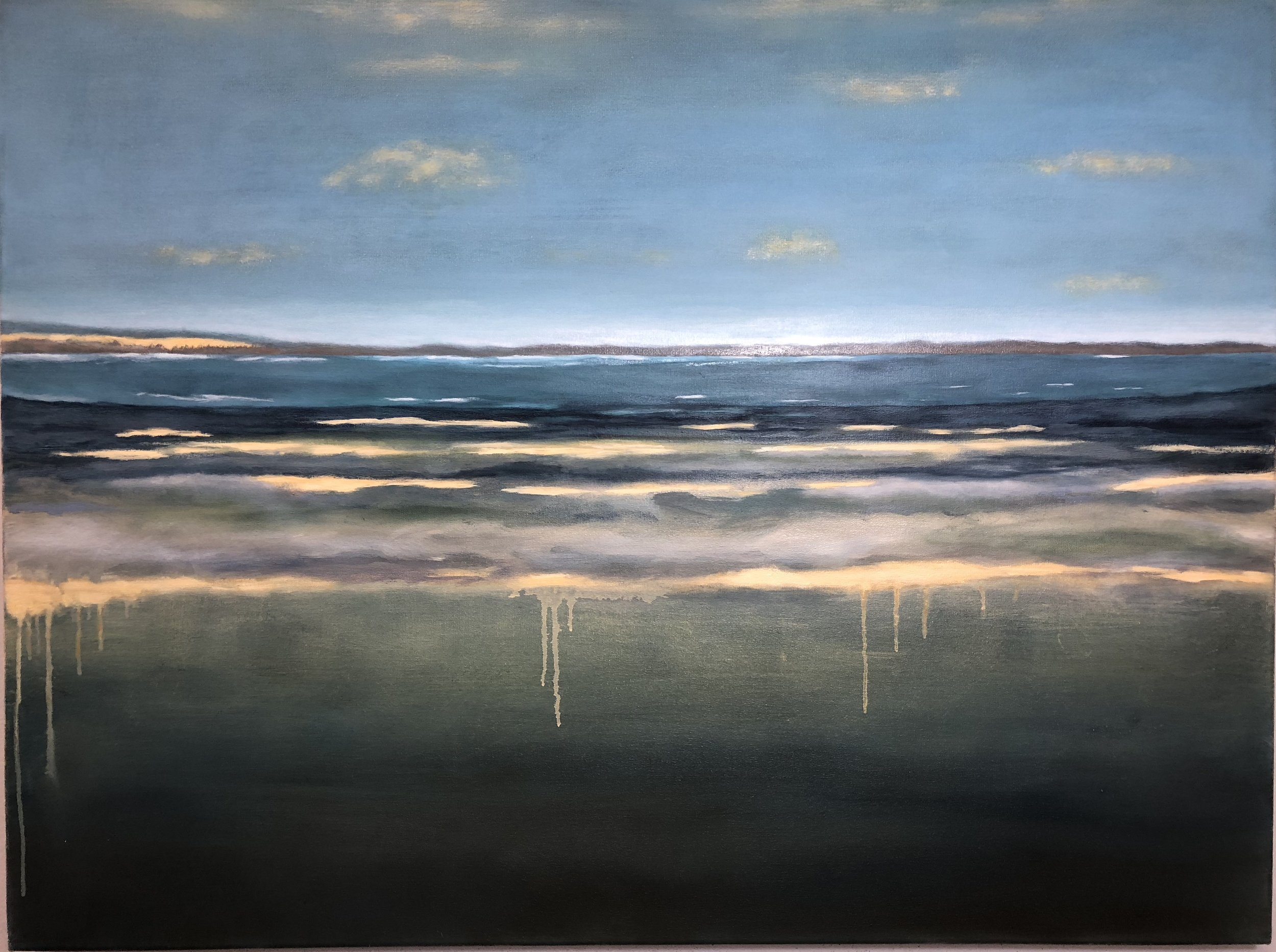 "Inlet, Oil on Canvas, 30""x40"""