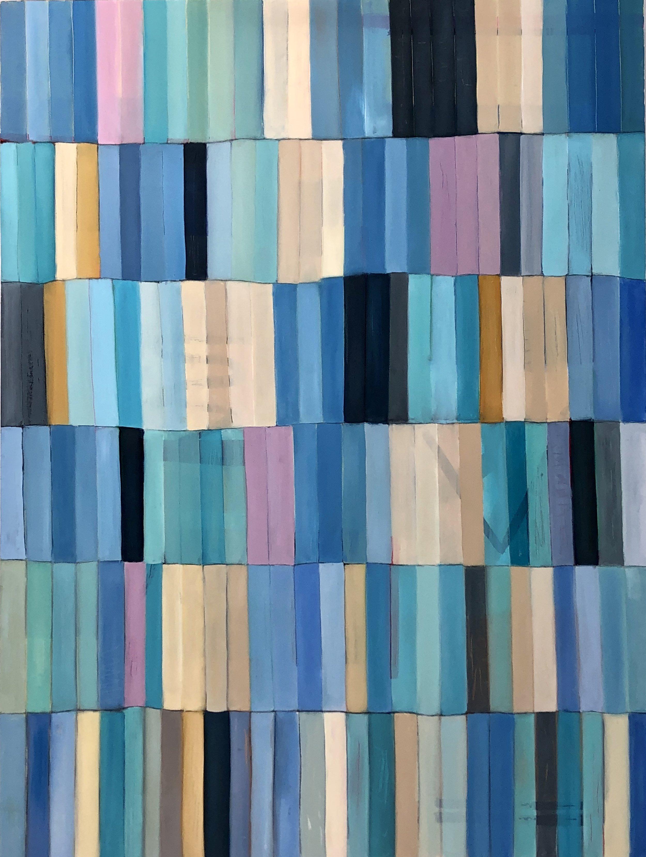"""Beach Glass, Oil on Canvas, 48""""x36"""""""