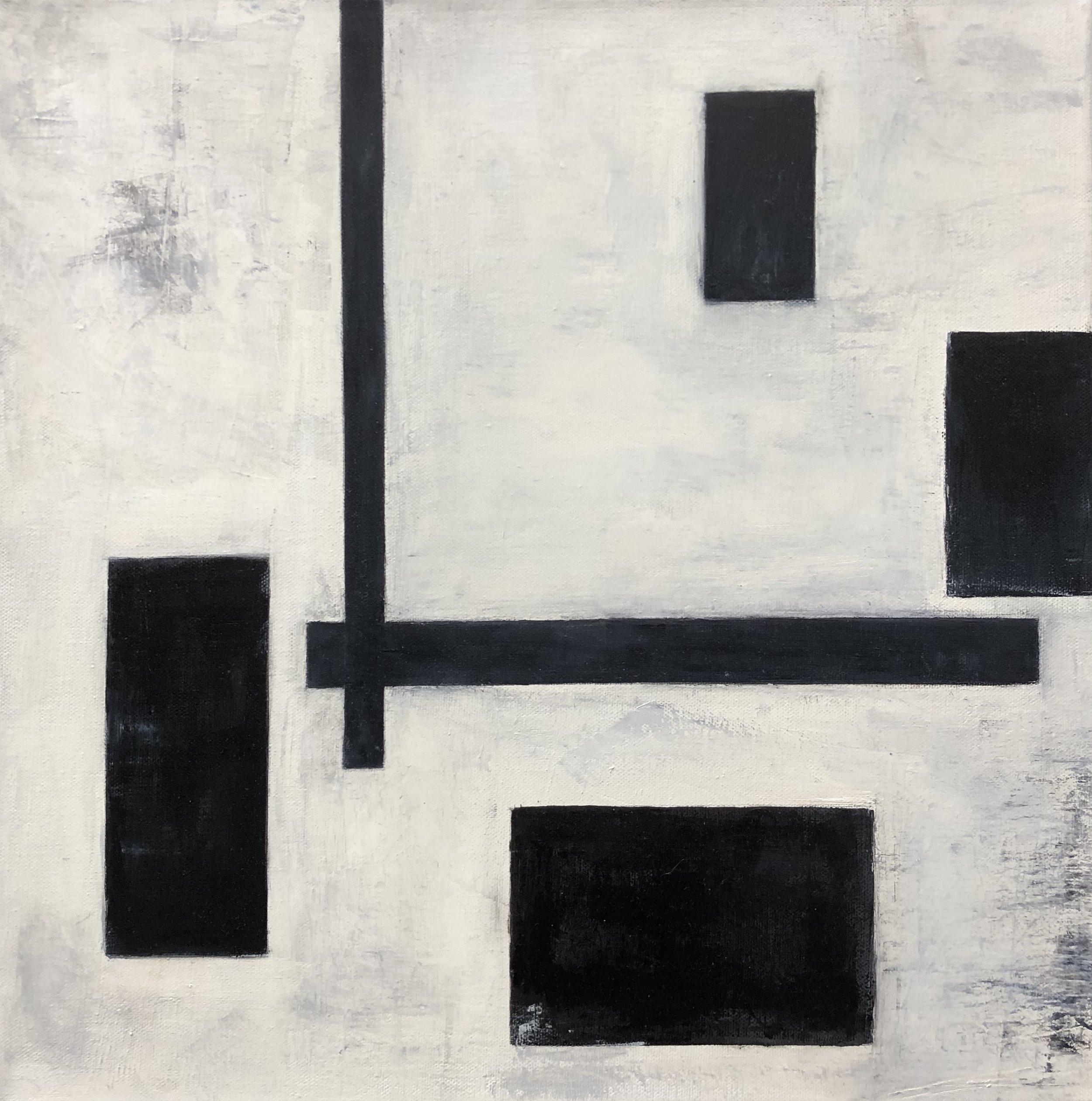 """Simplify lll, 16"""" x 16"""" Oil on Canvas"""
