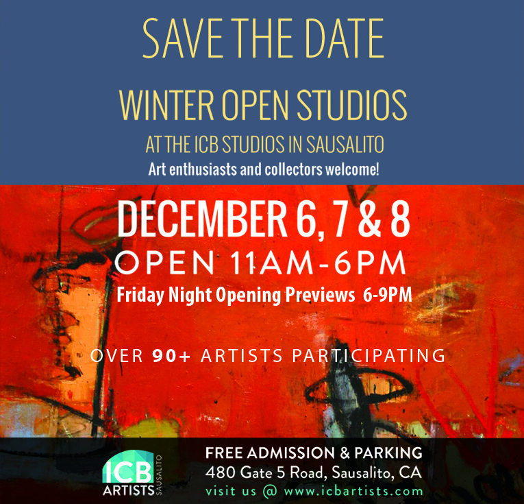 Please join me in my new studio. ICB Winter Open studio 2019! - Studio 325