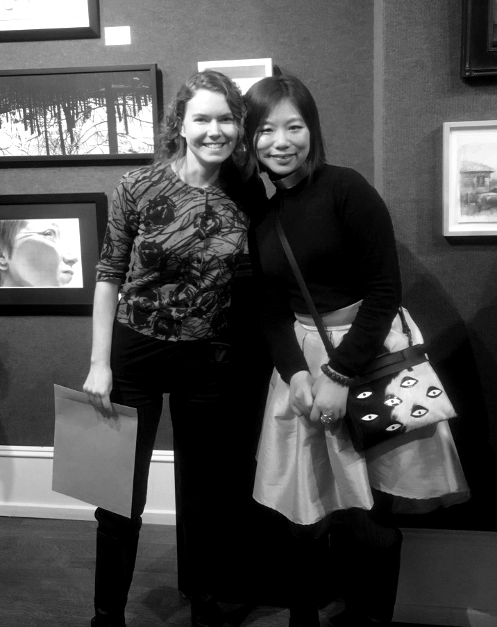 With artist Charity Henderson whose work is also featured at the Black & White Show. Click image to check out her art!