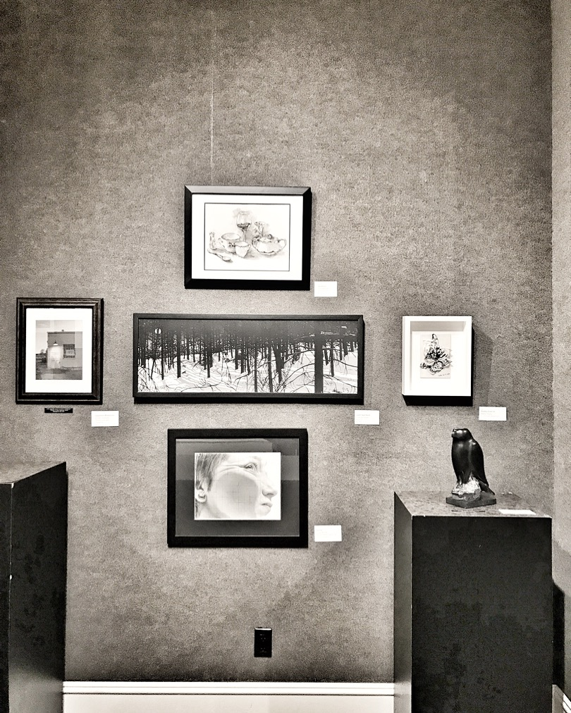 The magic corner consisting of amazing sculpture, photography, and graphite illustrations.
