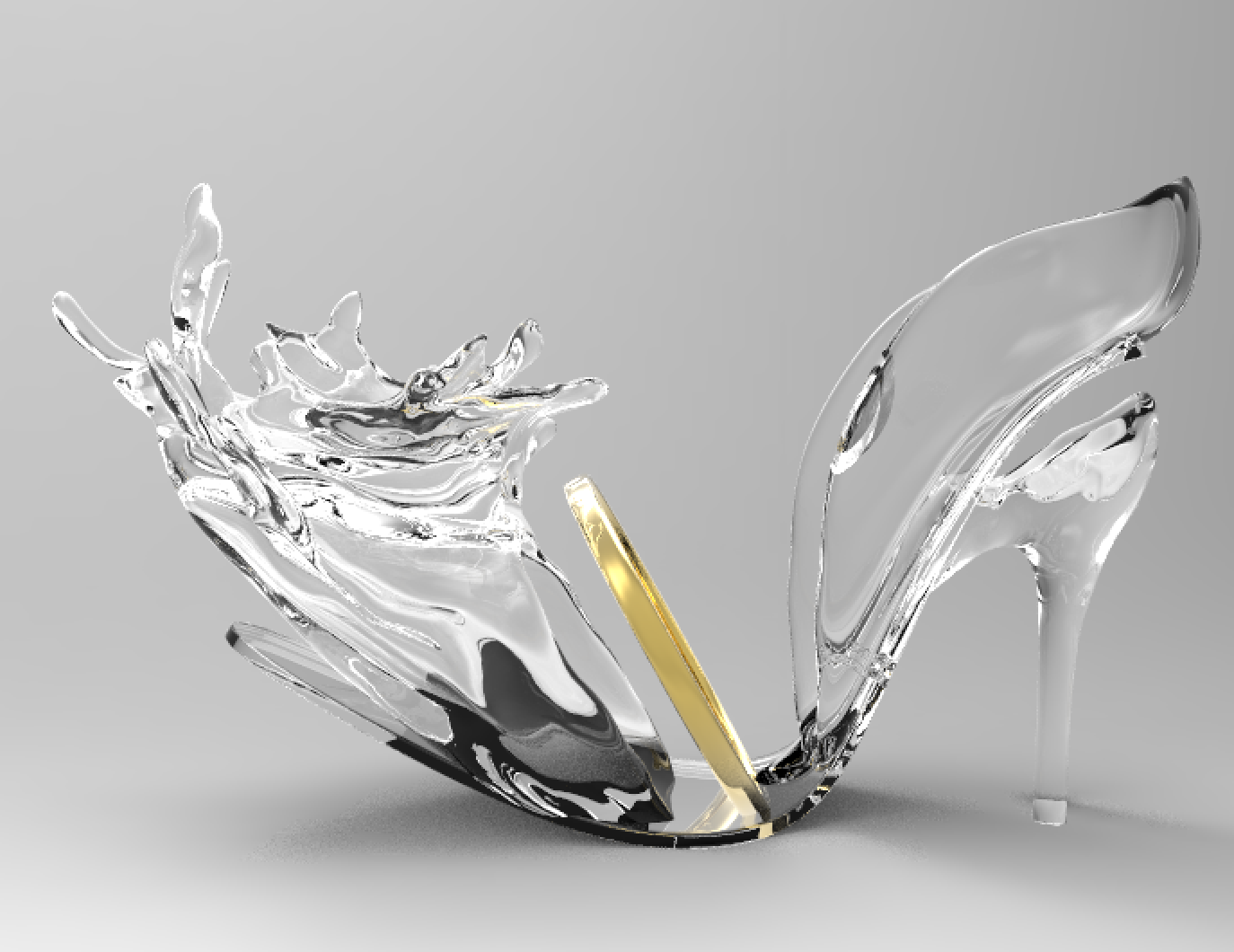 3D Rendering: After many rounds of revisions, we finally got it right! Special thanks to Declan Hennessey for helping me to get the water splash right!