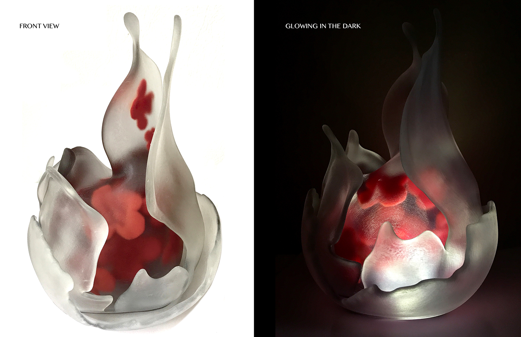 My Pretty thoughts 3D printed sculpture, click  here  to see my design process.