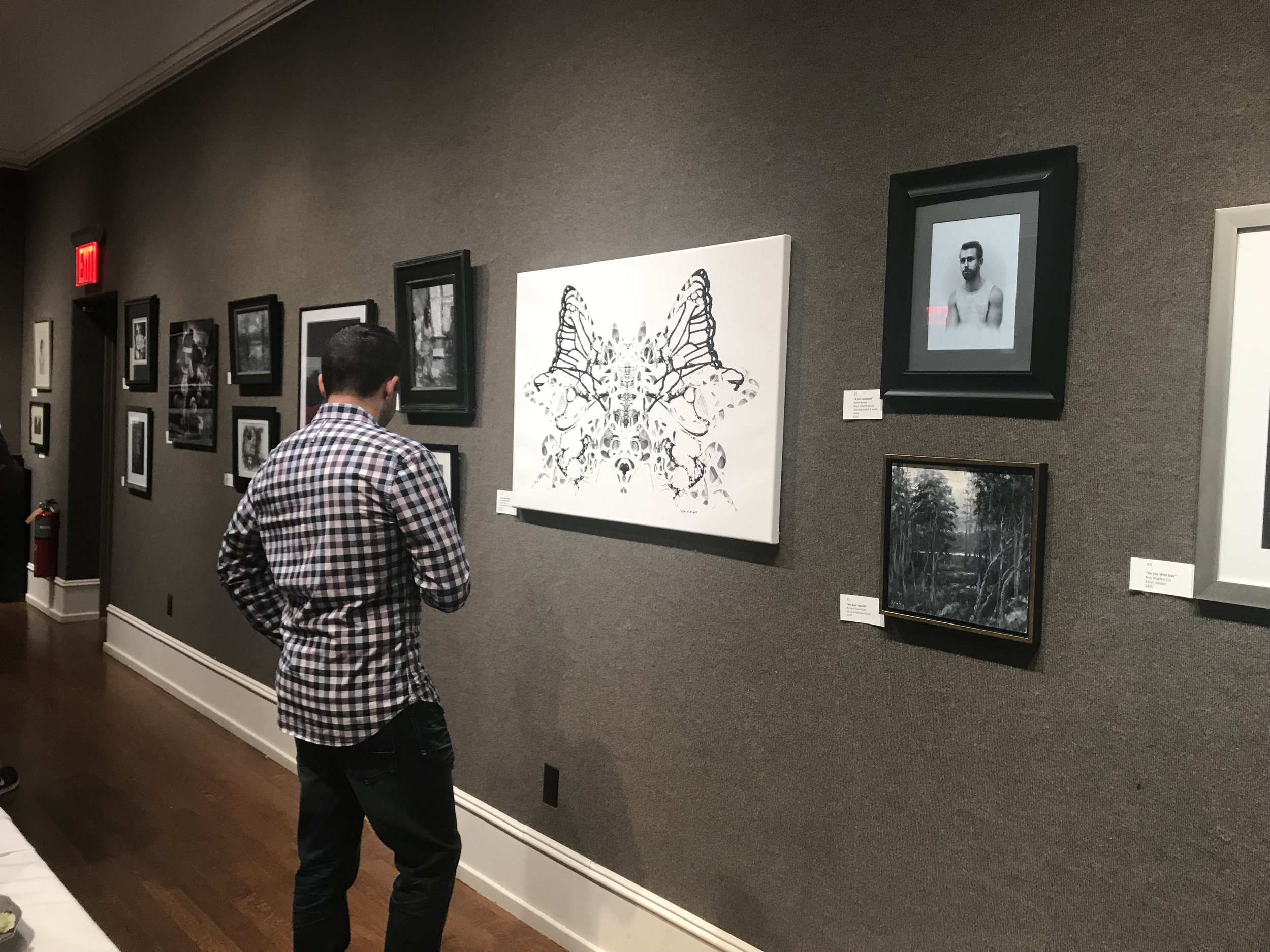 Second dude checking out my artwork