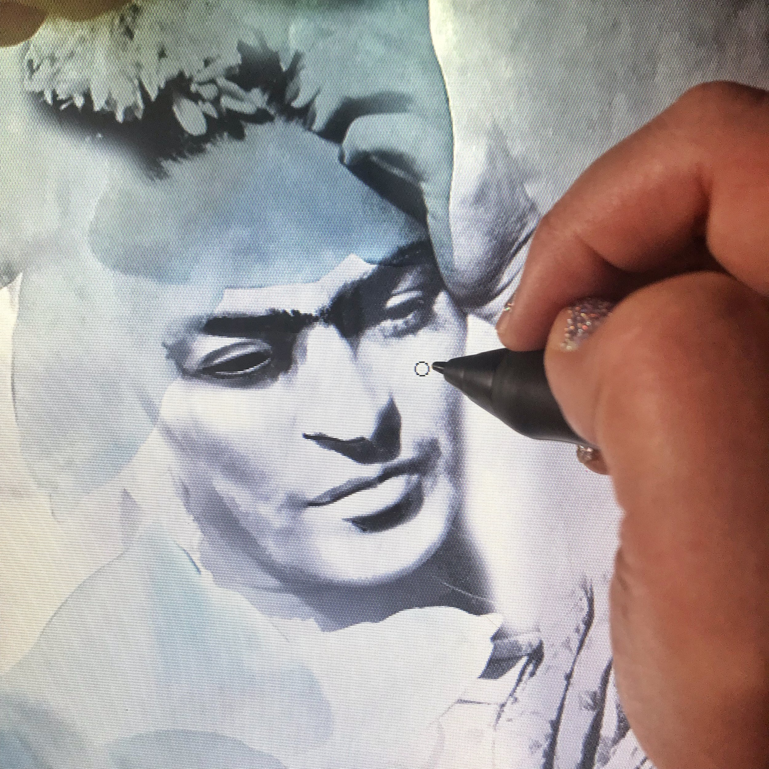 Drawing Frida's Face Part II
