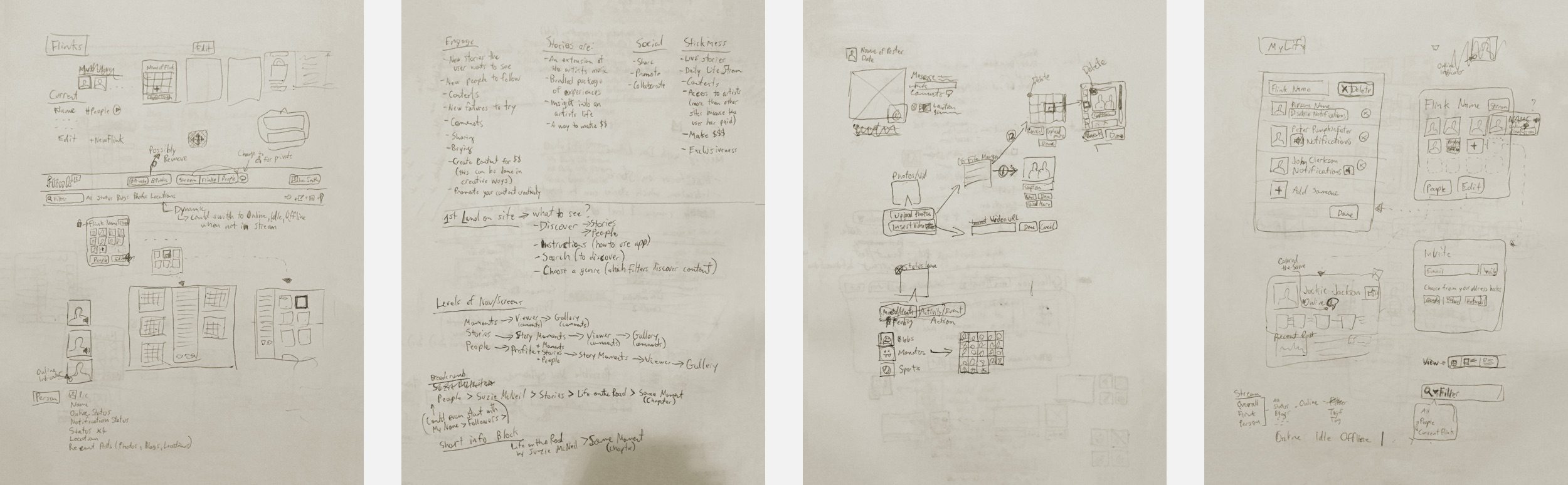Just a handful of the numerous pages of sketches, notes, ideas, and questions.