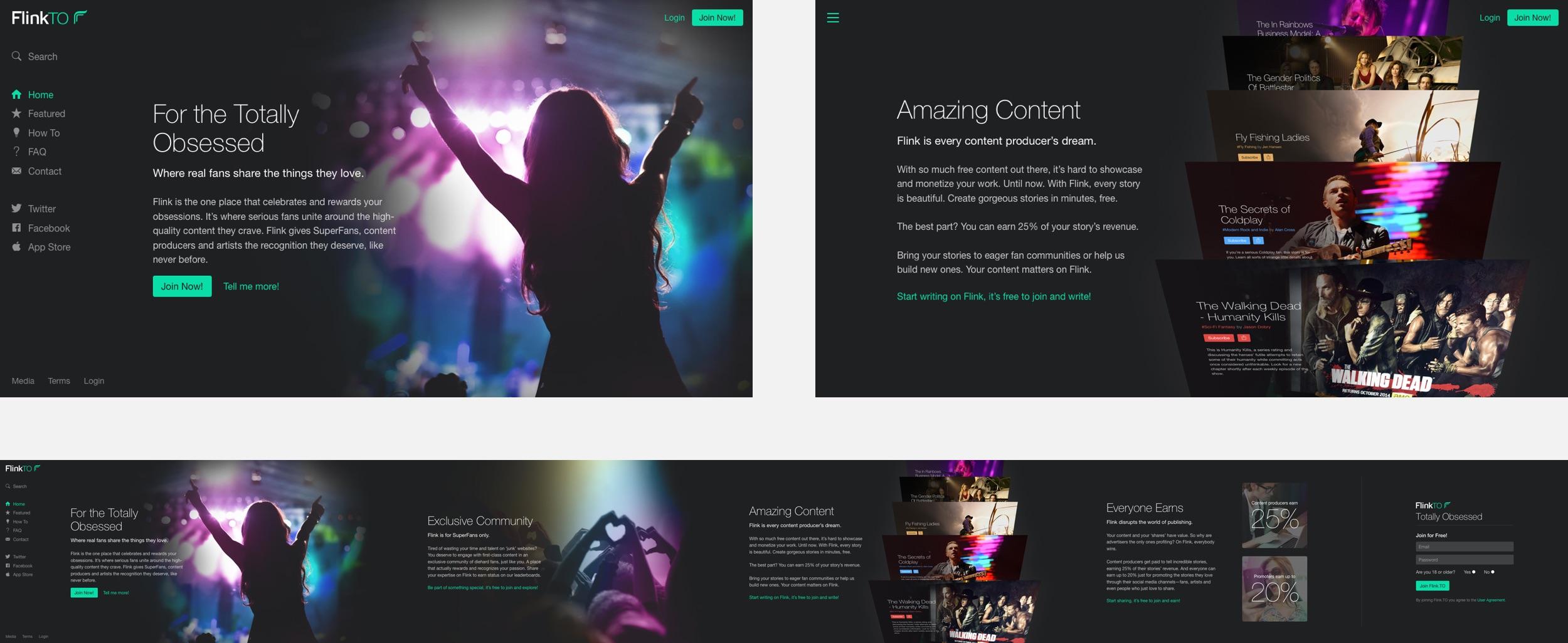 The final FlinkTO promo site.