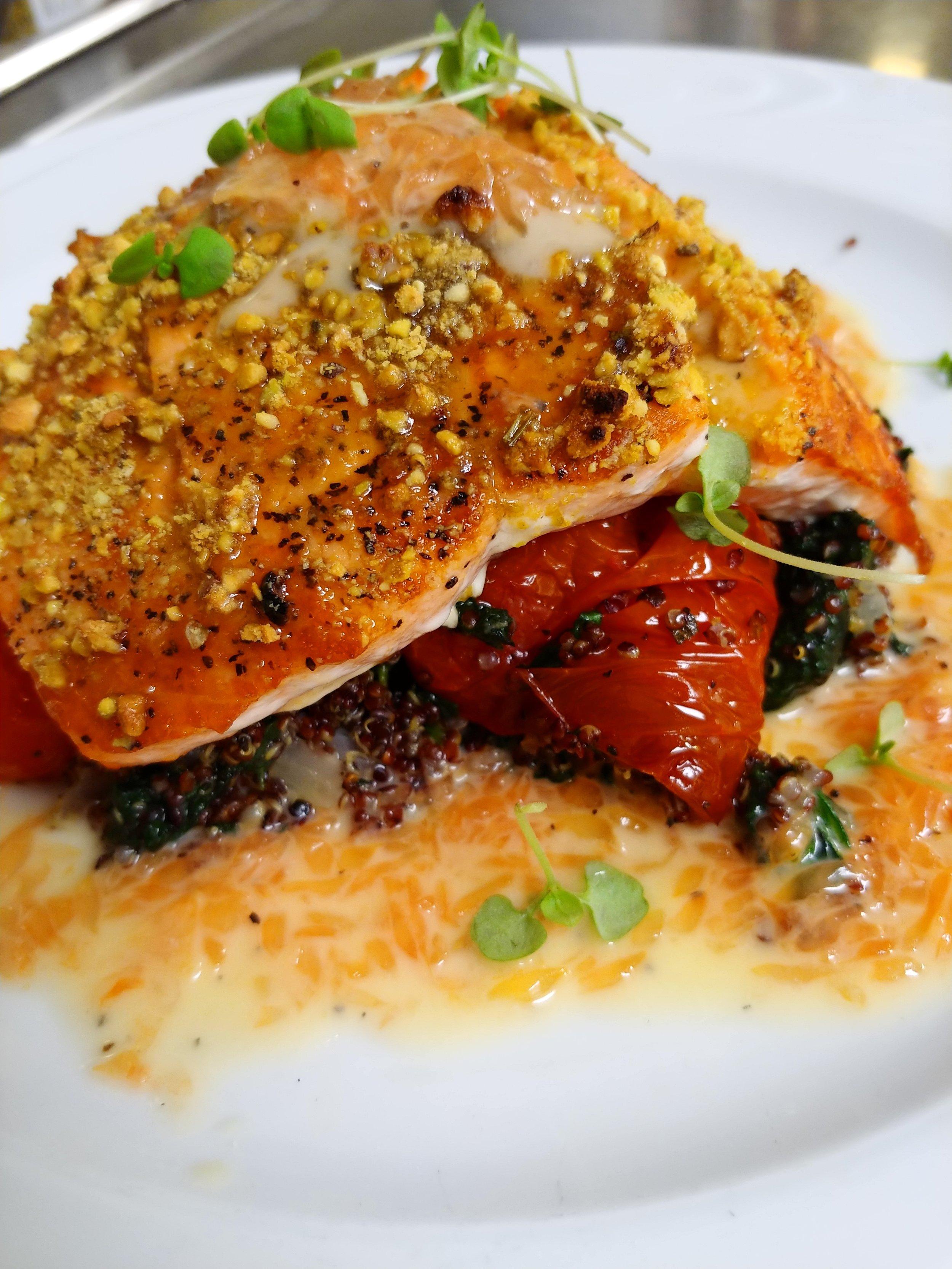 Pistachio Crusted Wild Alaskan Salmon