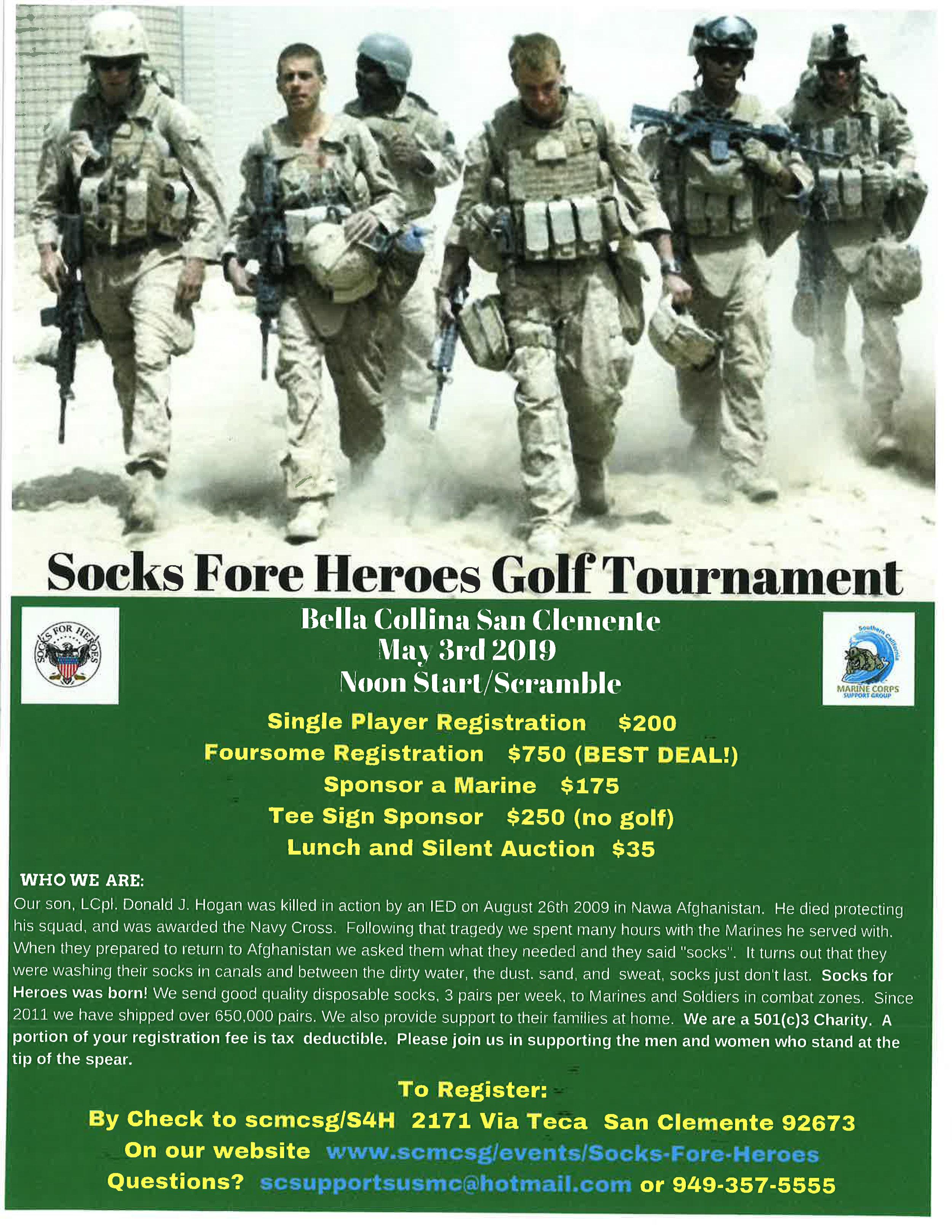 Socks Fore Heroes Golf Tournament Flyer.jpg