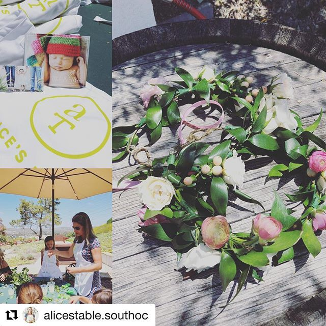 #Repost @alicestable.southoc ・・・ What a lovely morning @bellacollinagolf in the gardens!  Sweetness overload with moms and daughters creating flower crowns, then a photo shoot by @michelle.marie.photo
