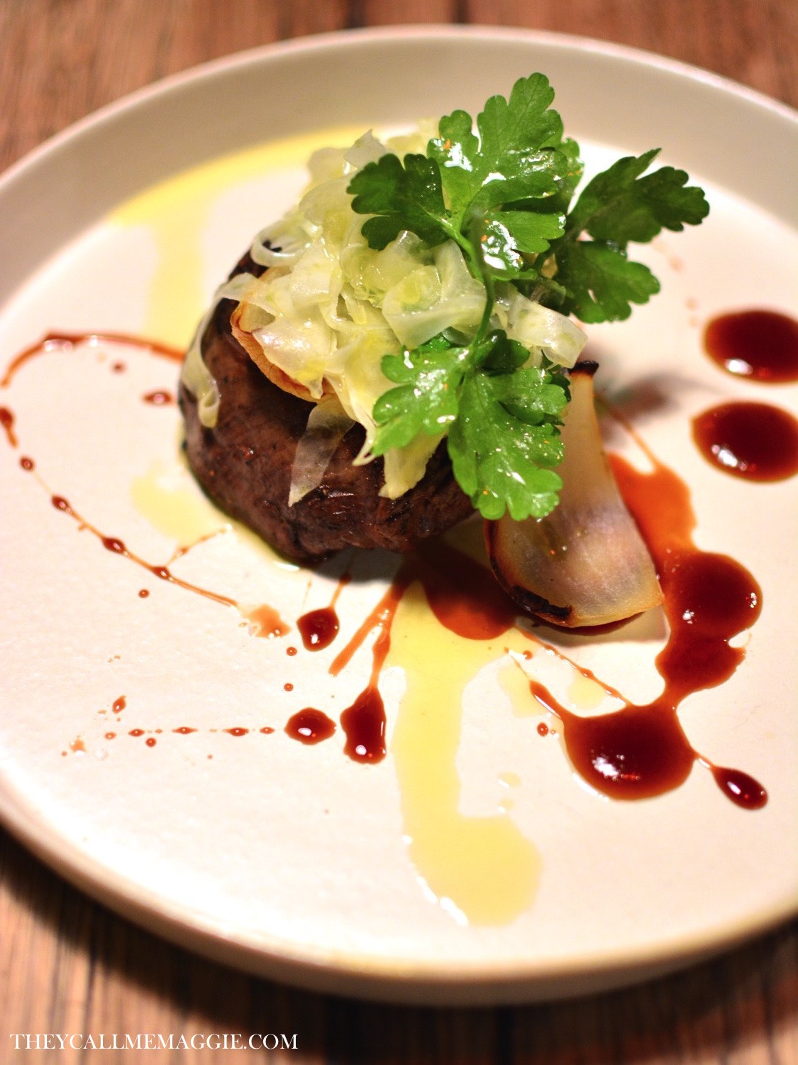 Gippsland beef fillet with shaved fennel and parsley