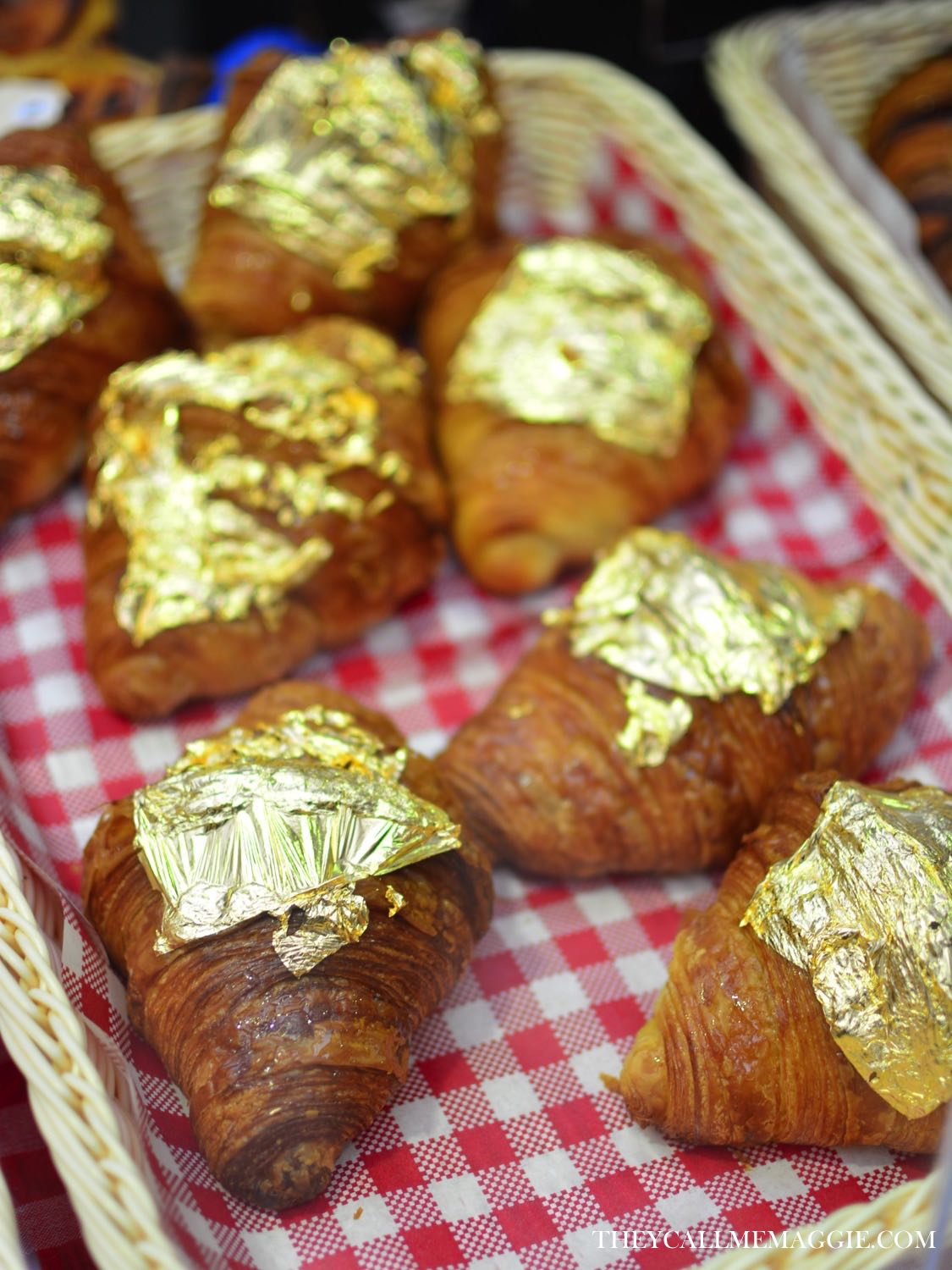Croissants fit for a queen - these explosive sour lemon croissants, topped with a gold leaf, were created as a special Queen's Birthday edition.