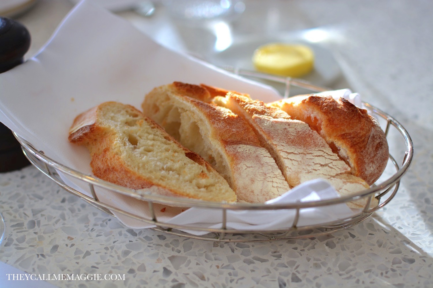 Complimentary bread and butter.