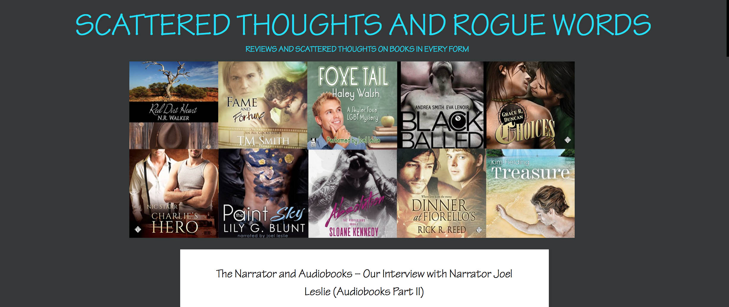 JOEL CHATS WITH M/M REVIEW BLOG SCATTERED THOUGHTS AND ROGUE WORDS