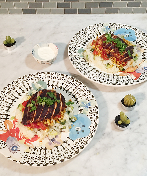 Blackened Chicken Dish for Two