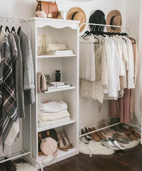 Organized clothing racks + hat hangings