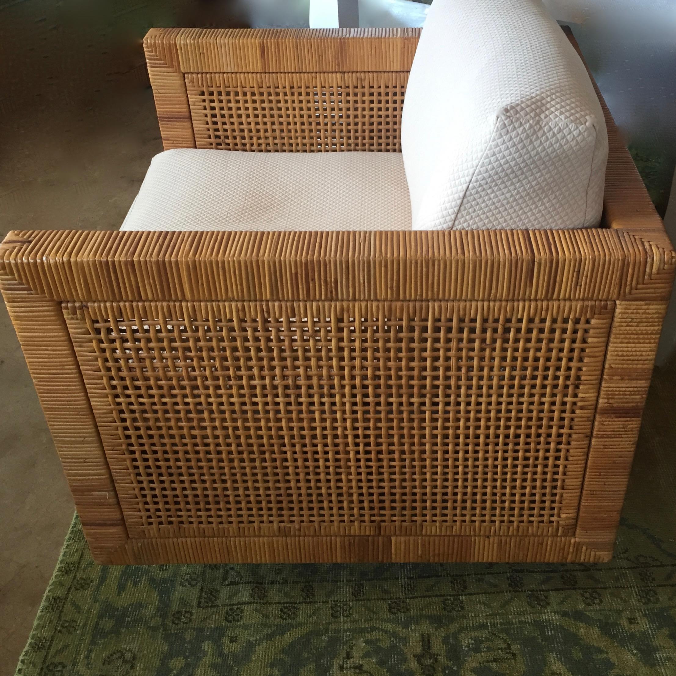 Bielecky Wicker Club Chair