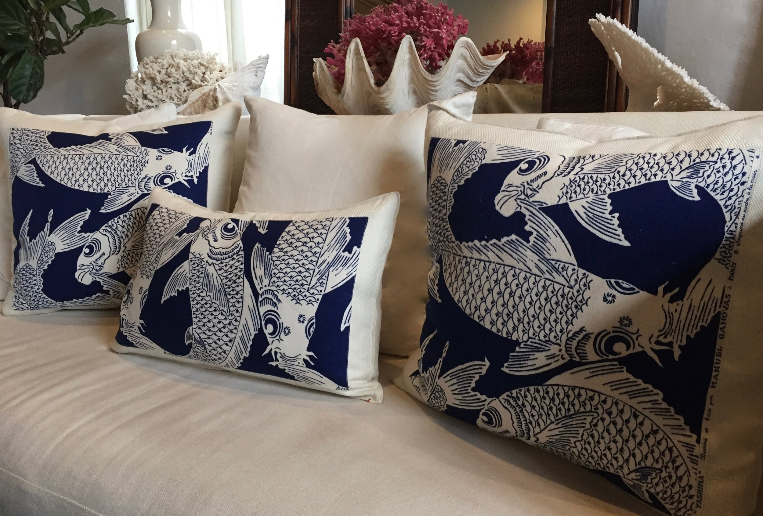 Koi indigo vintage fabric - we are now taking orders for the new collection