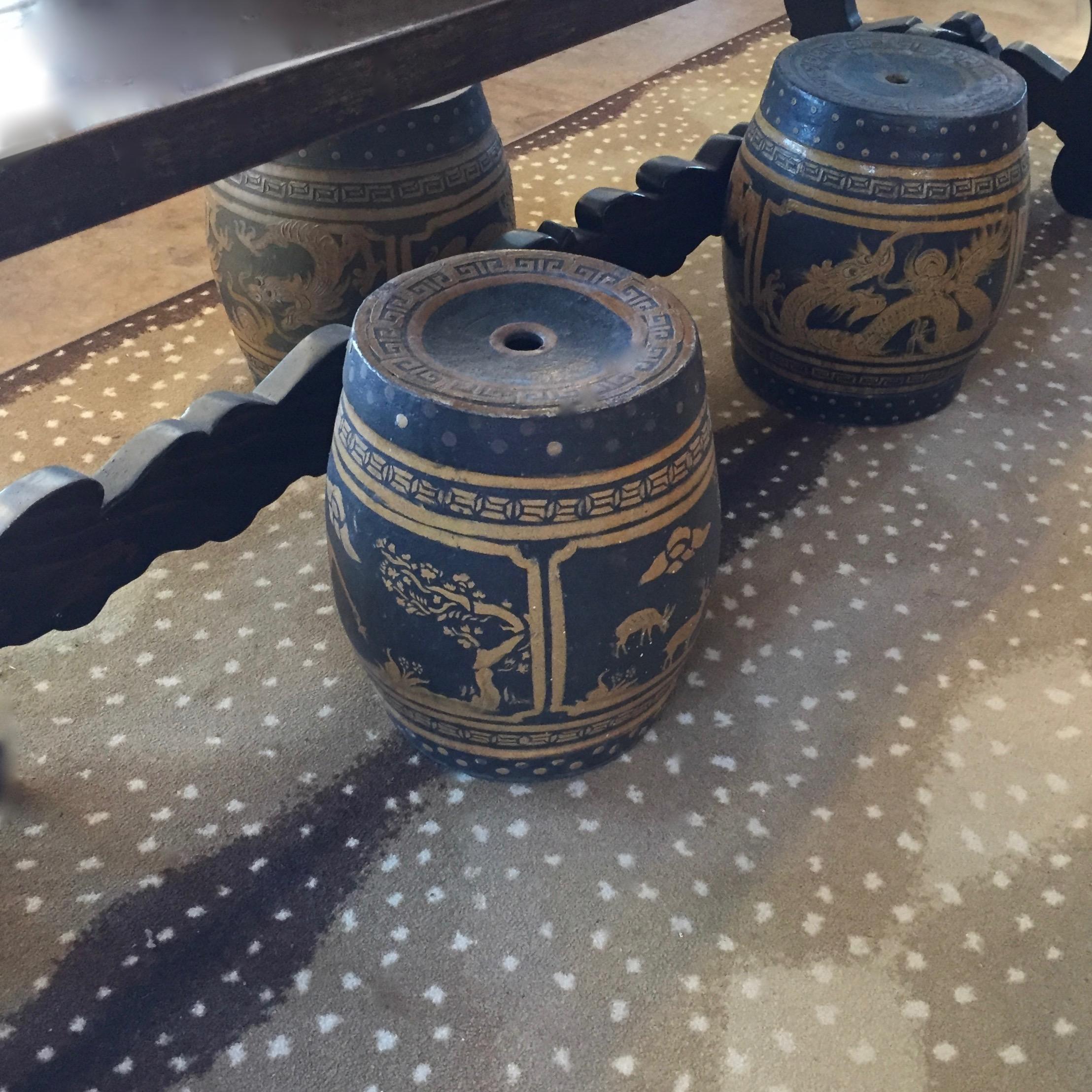 Antiques Garden Stools