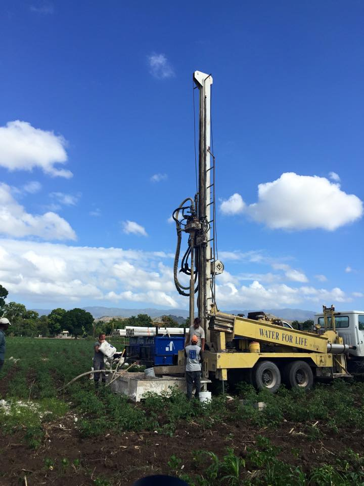 location  - Depth: 175' -    Water Table: 40' - Flow: 20 gal/min (gpm)